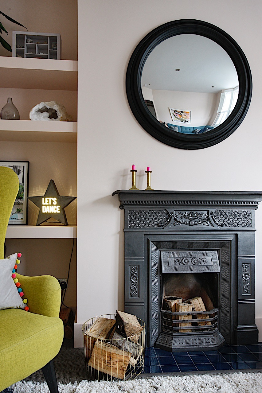 Stunning reclaimed Victorian fireplace in a renovated period family home