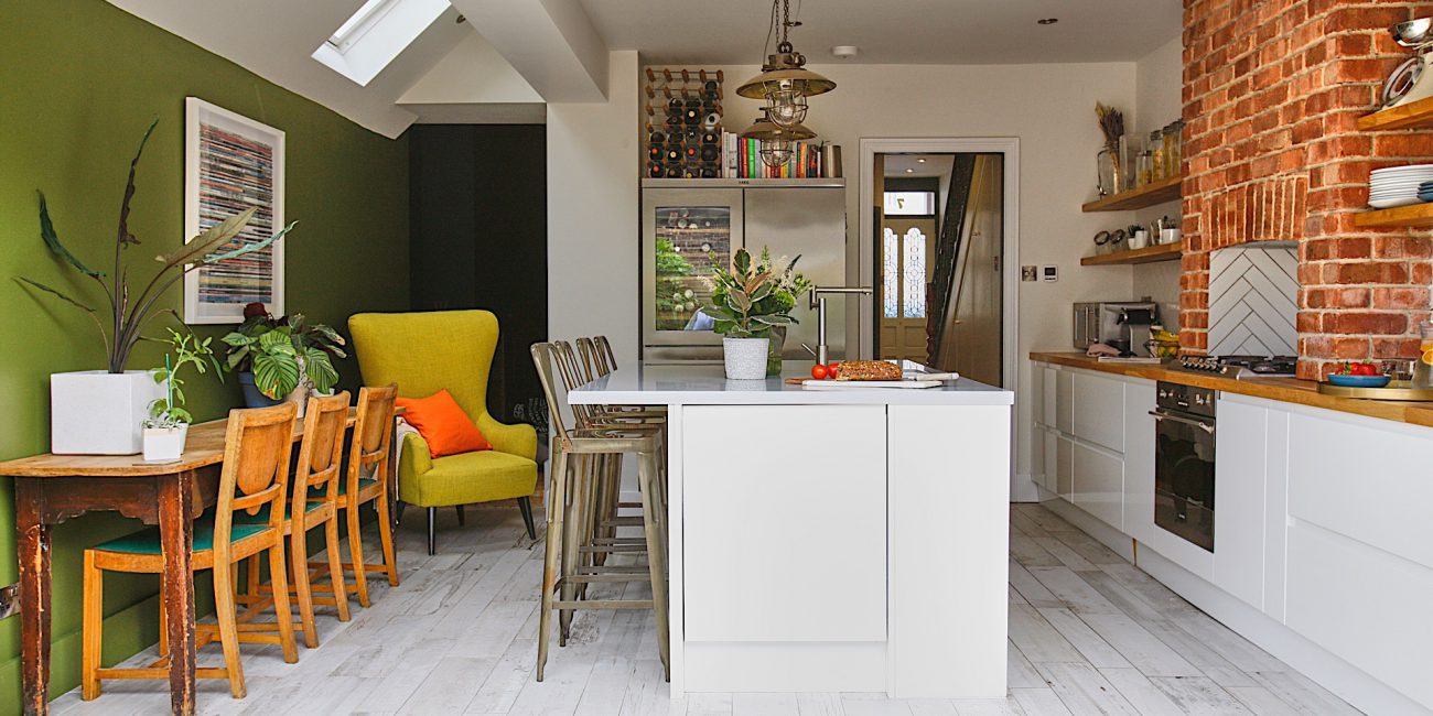 Edwardian terrace renovated family home with side return extension